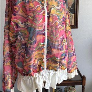 Vintage Jackets & Coats - Adorable 1980s mesh windbreaker